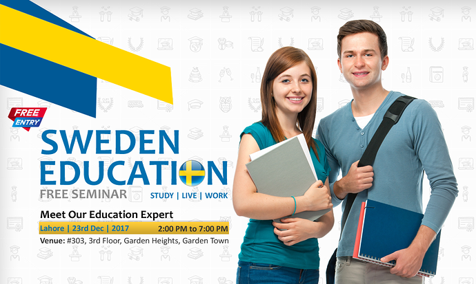 Study in sweden free seminar in lahore career for Amazon sweden office